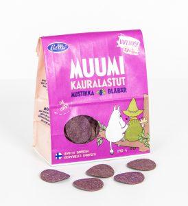 BitMix Muumi Kauralastut Mustikka 100 % kaurasnack